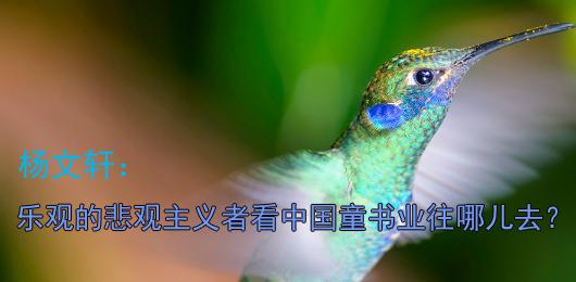 杨文轩:乐观的悲观主义者看中国童书业往哪儿去?