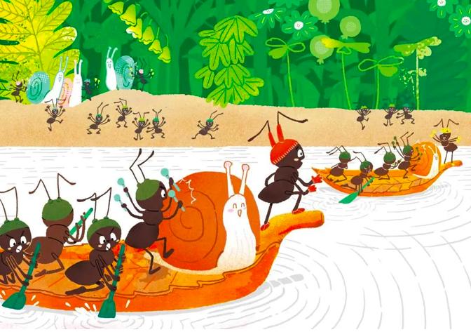 从孩子视角出发和蚂蚁做游戏,让他们在探索中认识世界