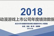 《2018动漫游戏上市公司年度绩效数据报告》发布——上半年中国游戏市场实际销售收入增幅创10年新低