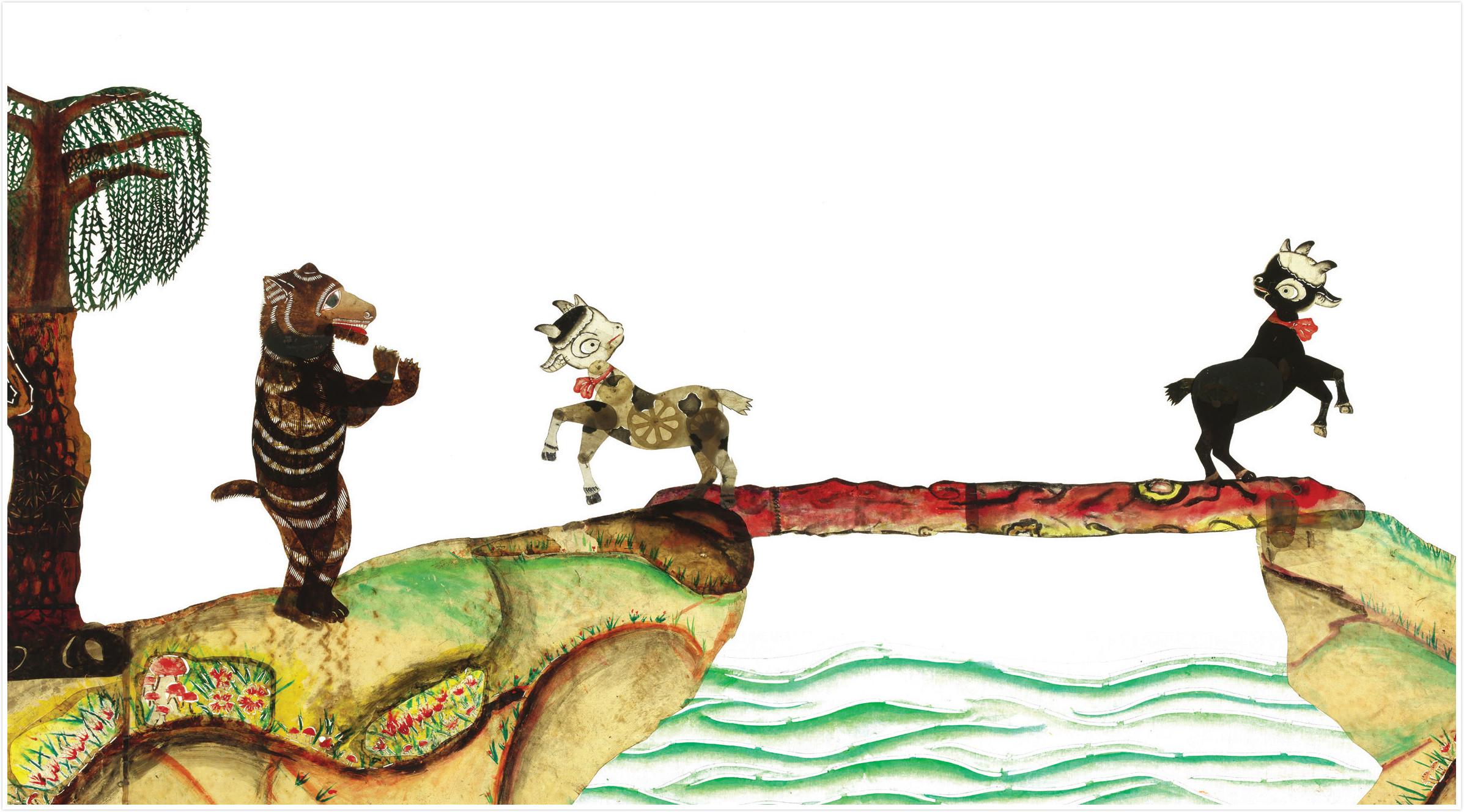 两只小羊过桥绘本